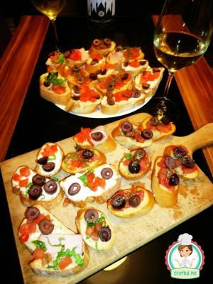 Домашни брускети по италианска рецепта от Милано